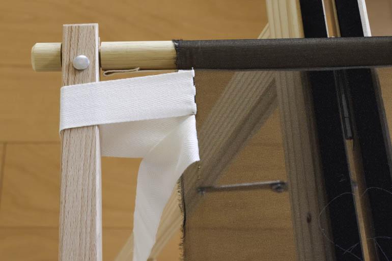 刺繍枠の張り方、布テープ5