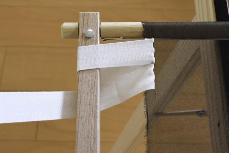 刺繍枠の張り方、布テープ6