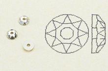 【スワロフスキー】3mm エクラ クリスタル