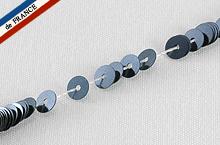 【糸通しスパンコール】4mm平 メタリックブルーブラック【1000枚】