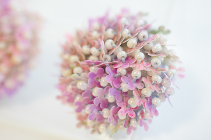 柄入りの花のスパンコール