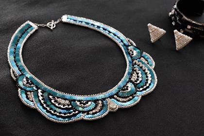 リュネビル刺繍のネックレス