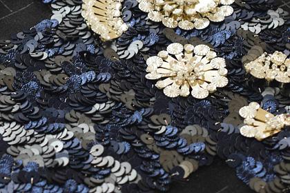 長方形スパンコールの刺繍