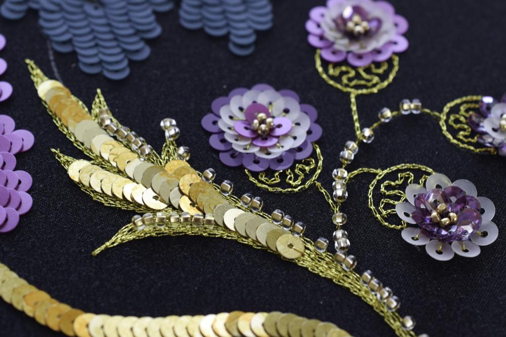 オートクチュール刺繍制作例ヴェネチアンゴールド
