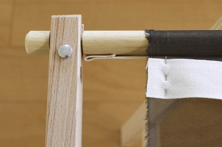 刺繍枠の張り方、布テープ1