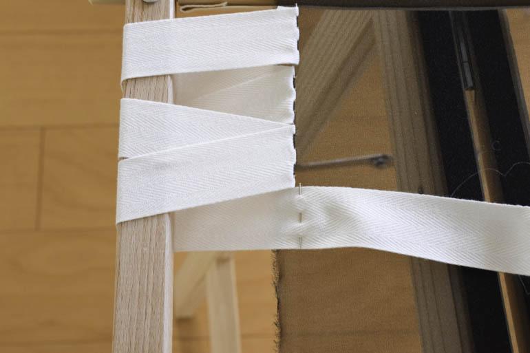 刺繍枠の張り方、布テープ11
