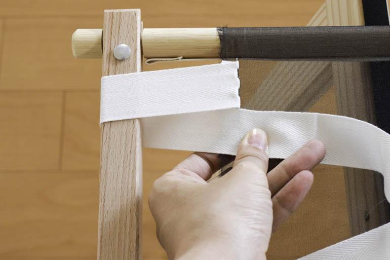 刺繍枠の張り方、布テープ3