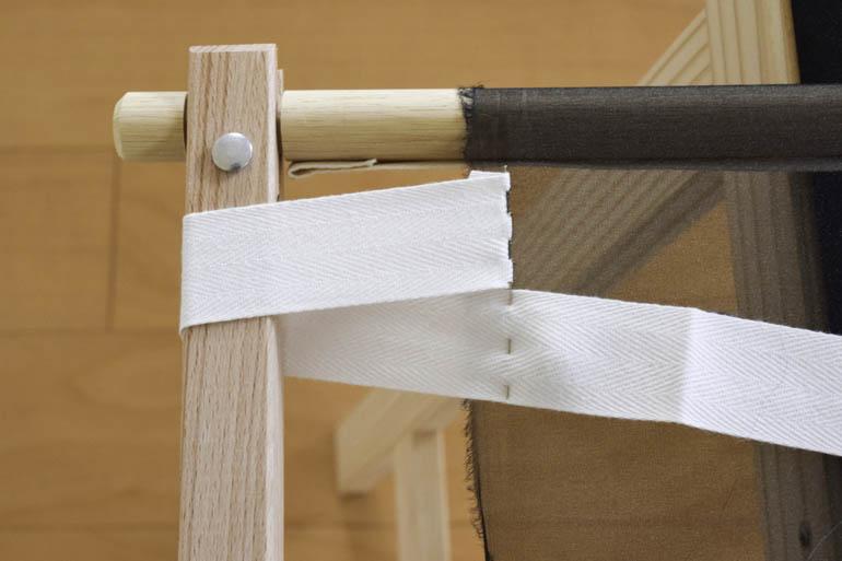 刺繍枠の張り方、布テープ4