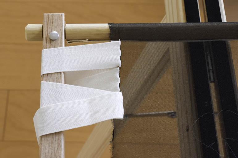 刺繍枠の張り方、布テープ9