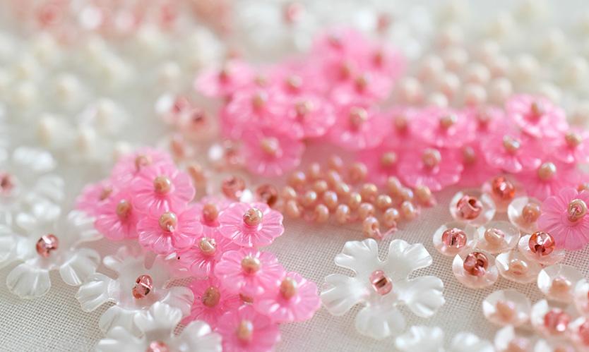 〜お花のスパンコールの使い方〜
