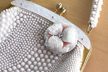 オートクチュール刺繍ブローチ