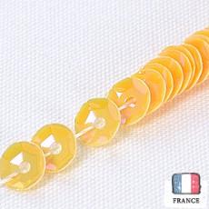 【糸通しスパンコール】4mm亀甲 オリエンタルマンダリンオレンジ【1000枚】