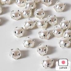 【縫い付け用ラインストーン】3mm ホワイトパール