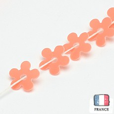 【糸通しスパンコール】5mm花 コーラル