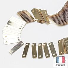 【糸通しスパンコール】2.5x9mm長方形 メタリックペールゴールド
