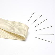 【刺繍枠用】綿テープとシルクピンのセット