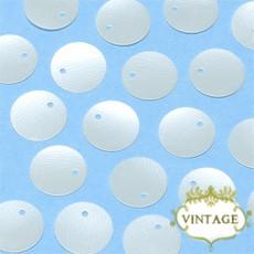【ヴィンテージスパンコール】10mm トップホール パーリーホワイト