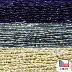 【シャーロットビーズアソート】メタリックシルバー・オーロラグレー・ダークコバルト【3色入り】
