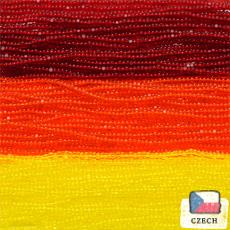 【シャーロットビーズアソート】ライトガーネット・トロピカルオレンジ・カナリアイエロー【3色入り】