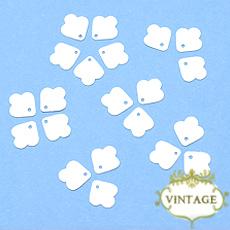 【ヴィンテージスパンコール】8mm トップホール 花びらモチーフ ホワイト