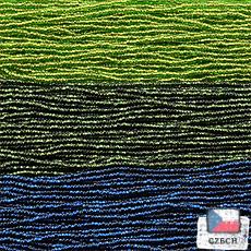 【内角チェコビーズアソート】オリーブコッパー・スパークリングモスグリーン・ダークナイトブルー【3色入り】