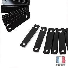 【 糸通しスパンコール 】3x12mm長方形 ブラック