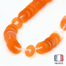 【糸通しスパンコール】3mm平 オーロラオレンジ【1000枚】