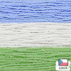 【シャーロットビーズアソート】ベビーブルー・ホワイト・パールミントグリーン【3色入り】