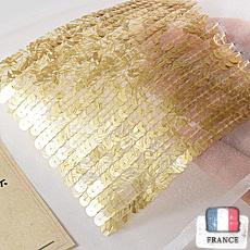 【糸通しスパンコール】5mm平 流水ゴールド【1000枚】