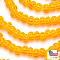 在庫限り【 ストライプビーズ 】12/0 ストライプビーズ Orange Red【 チェコ製 】【 6m入り 】