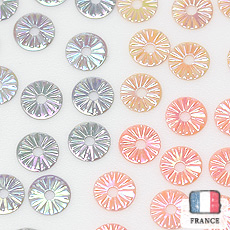 在庫限り【アソートスパンコール】4mmソレイユ オリエンタルmix ベビーピンク・ライトオークル ・ミディグレー