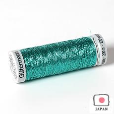 【ギッターマン】メタリック糸 ブライトグリーン 200m巻き