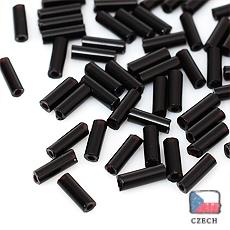 在庫限り【 チェコビーズ 】極細竹 1.3x4mm ブラック
