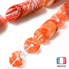 【 オートクチュールスパンコール 】5mm平 サンゴ ハンドペイント collection【約1000枚】