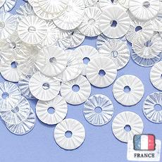 【 アソートスパンコール 】4mmソレイユ mix ペールホワイト・クリスタル・グロッシーホワイト