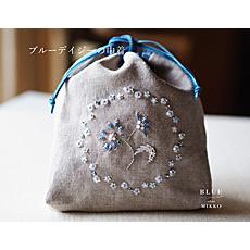 キット ビーズ刺繍のリネンポーチ  by BLUEchouMIKKO