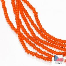 【チェコ製・糸通しビーズ】13/0 シャーロット トロピカルオレンジ【3.6m入り】