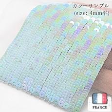 【糸通しスパンコール】4mm平 オリエンタルベビーブルー【1000枚】